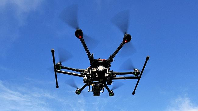 Drones are used by Australian businesses for photography. Picture: Karen Dodd Source: News Corp Australia